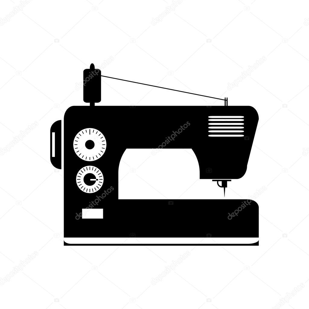 Schwarz isoliert Kontur Silhouette der Nähmaschine — Stockvektor © Avdeev80  -> Nähmaschine Blockiert
