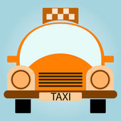 Vector Yellow Taxi Car - Front view — Wektor stockowy