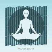 Yoga and pilates background. Illustration vector. — Wektor stockowy