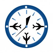 Watch and  airplane — Vetor de Stock