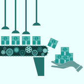 Money making machine, Business idea — Cтоковый вектор
