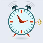 Ringing alarm clock — Stock Vector