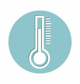 Thermometer vector icon, medical concept. — Stock Vector