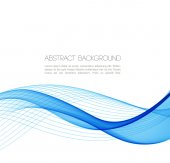 Abstract curved lines background. Template design — Stock Vector
