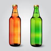 Blank glass beer bottle for new design — Stock Vector