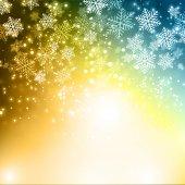 Kerstmis sneeuwvlokken achtergrond — Stockvector