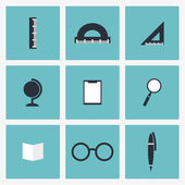 Educational, science  icons set — Stock Vector