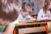 Pupils take a test — Stock Photo