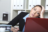 Overworked businesslady — Stock Photo