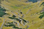 Winding road in Carpathians mountains — Stock Photo