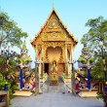 Buddhist Wat Plai Laem temple on Koh Samui island in Thailand. — Stock Photo #70620075