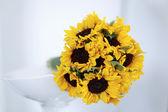 Bouquet da sposa girasole — Foto Stock