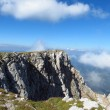 Top Australian Alps, high cliffs, white clouds and blue sky — Stock Photo #70638977