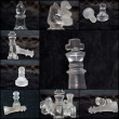Chess pieces, collage — Stock Photo #71073779
