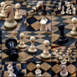 Chess pieces, collage — Stock Photo #71073793