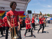 Rockland County Pride 2015 - Marching Band — Stock Photo