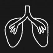 Doodle akciğer — Stok Vektör