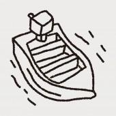 Doodle boat — Stock Vector