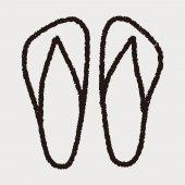 Doodle flip flop — Stock Vector