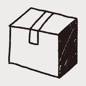 Doodle Box — Stock Vector