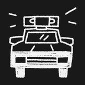 Doodle Police car — Stock Vector