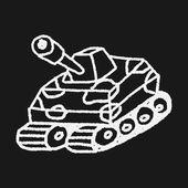 Doodle Tank — Stock Vector