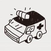 Ambulance de Doodle — Vecteur
