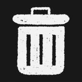 Doodle Trash can — Stock Vector