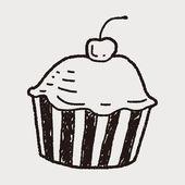 Doodle Cake — Stock Vector
