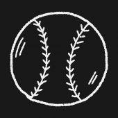 Doodle Baseball — Stock Vector