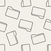 ファイルのシームレスなパターン背景を落書き — ストックベクタ