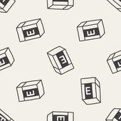 Doodle eraser seamless pattern background — Stock Vector