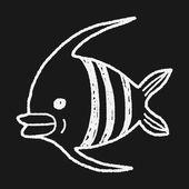 Doodle Angelfish — Stock Vector