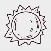 Doodle Sun — Stock Vector