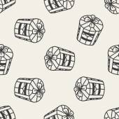 Doodle gift seamless pattern background — Stockvektor