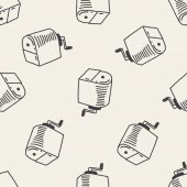 Doodle Pencil sharpeners seamless pattern background — Stock Vector