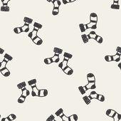 Doodle seamless pattern background — 图库矢量图片