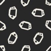 Doodle Consoles seamless pattern background — Wektor stockowy