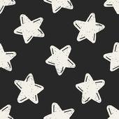 Doodle Star seamless pattern background — Stockvector