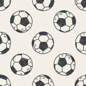 Doodle soccer seamless pattern background — Stock Vector