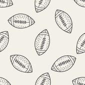 Doodle Football seamless pattern background — 图库矢量图片