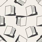 I file notebook doodle disegno fondo senza cuciture — Vettoriale Stock