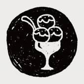 涂鸦冰激淋 — 图库矢量图片