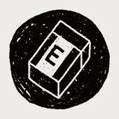 Doodle eraser — Stockvector