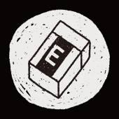 Doodle eraser — Vettoriale Stock