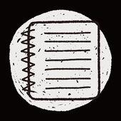Doodle notebook — Stockvector