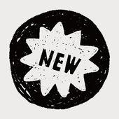 Doodle new — Stockvektor