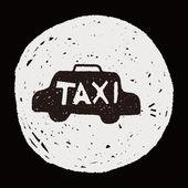 Doodle taxi — Stock Vector