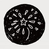 Doodle firework — Stock Vector