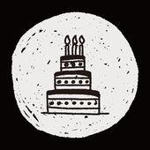 Doodle cake — Cтоковый вектор
